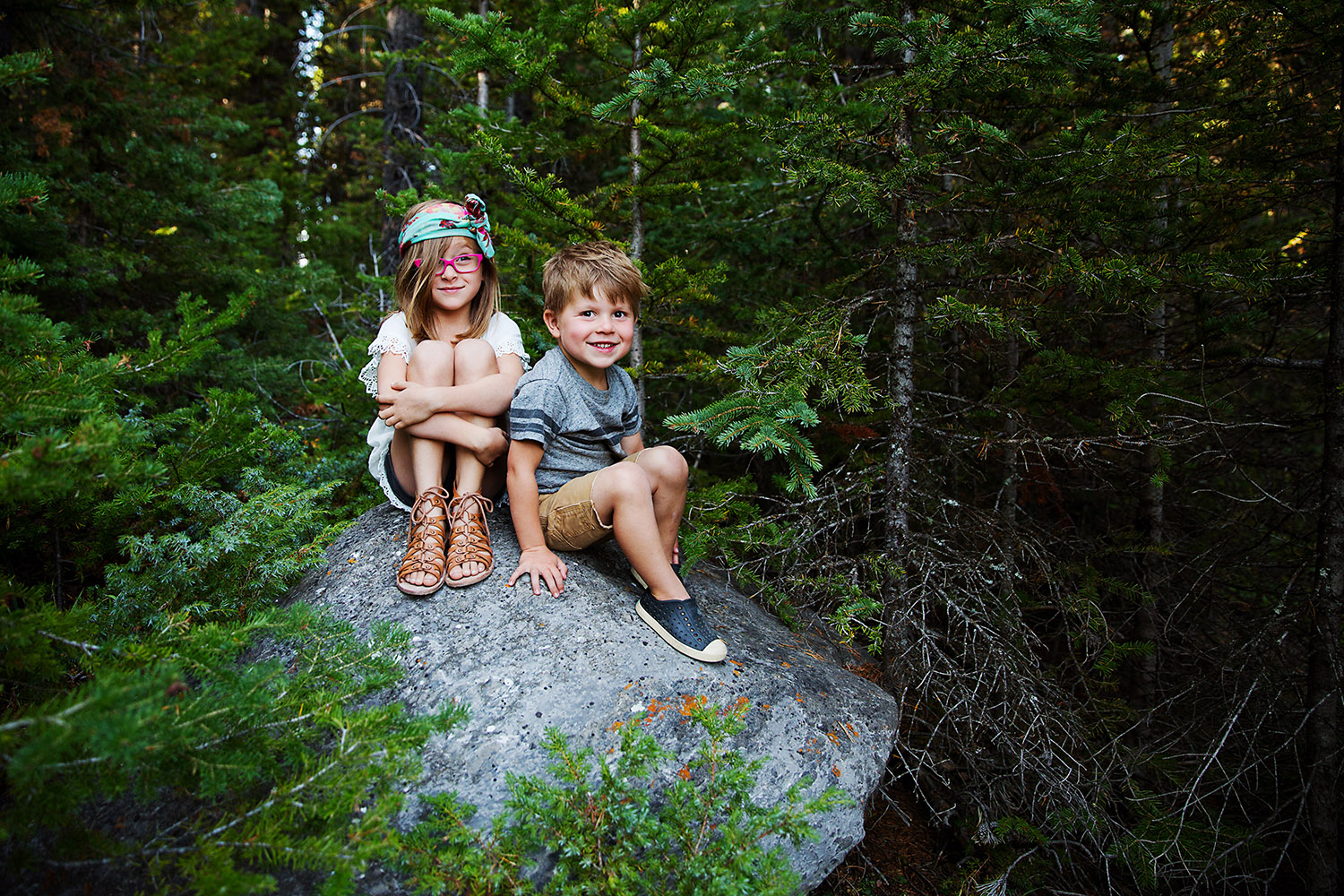 Siblings in Kananaskis